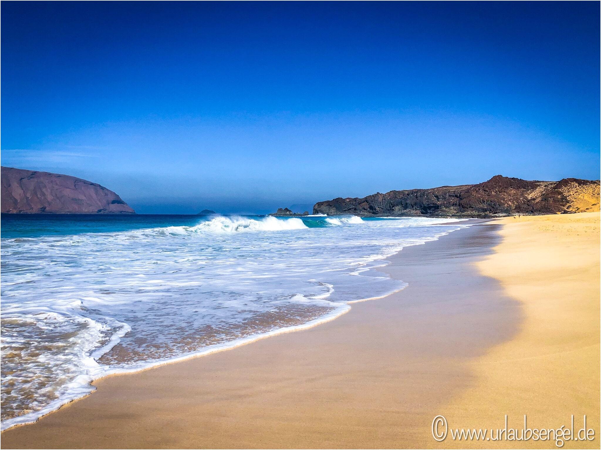Strand auf La Graciosa - Urlaubsengel auf Lanzarote