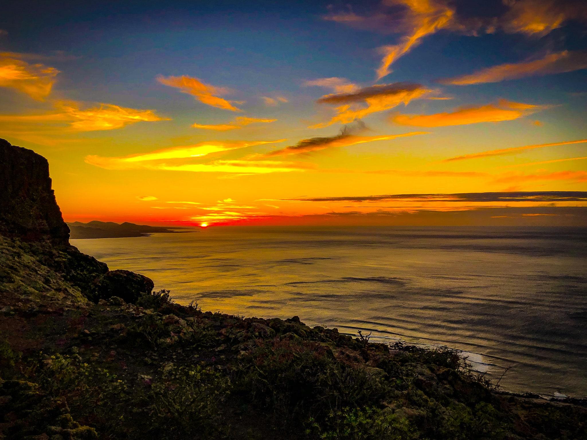 Sonnenuntergang - Urlaubsengel auf Lanzarote