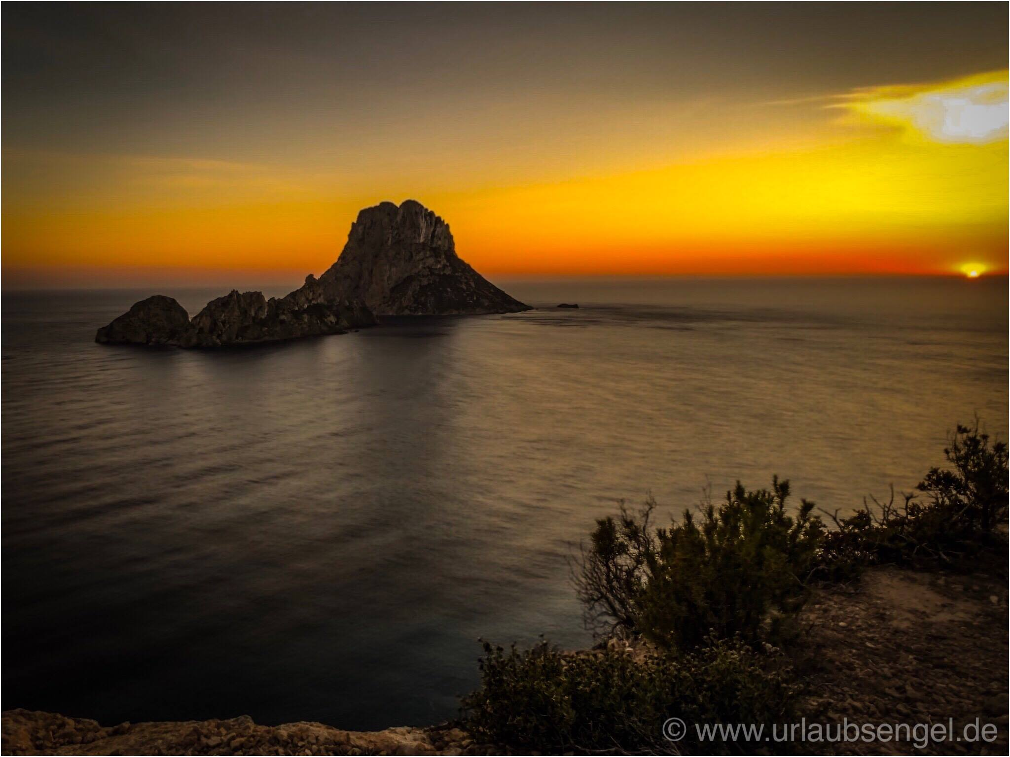 Es Vedra auf Ibiza im Sonnenuntergang