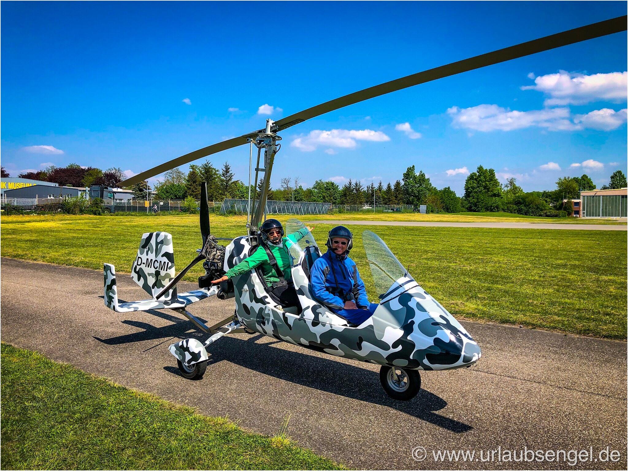 Gyrocopter fliegen mit MySky Mannheim
