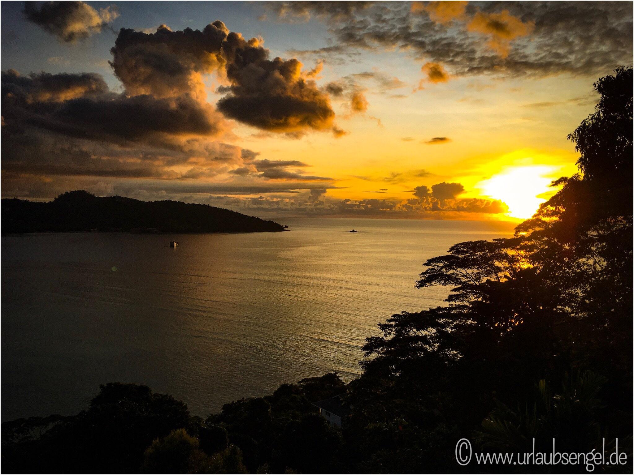 Mahé Seychellen, Sonnenuntergang