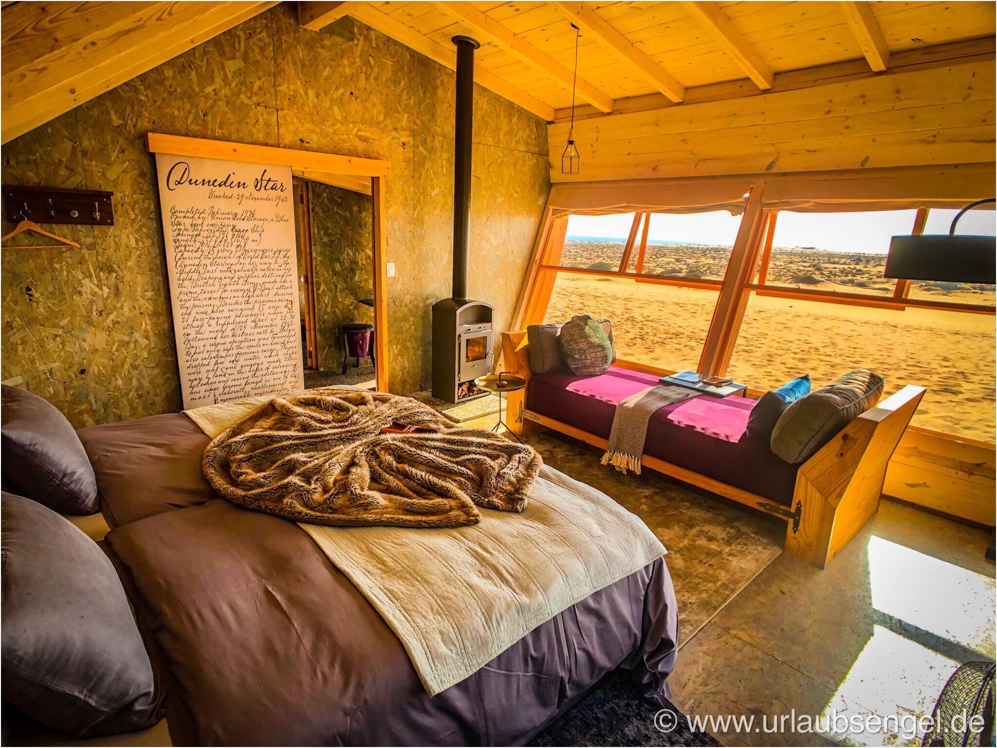 Zimmer der Shipwreck Lodge an der Skelettküste