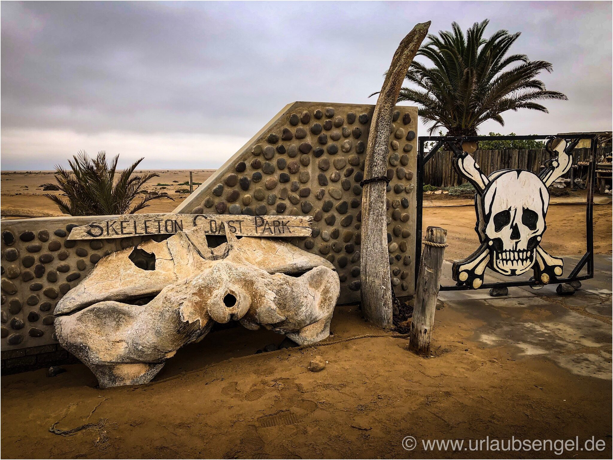 Eingang zur Skeletoncoast Namibia