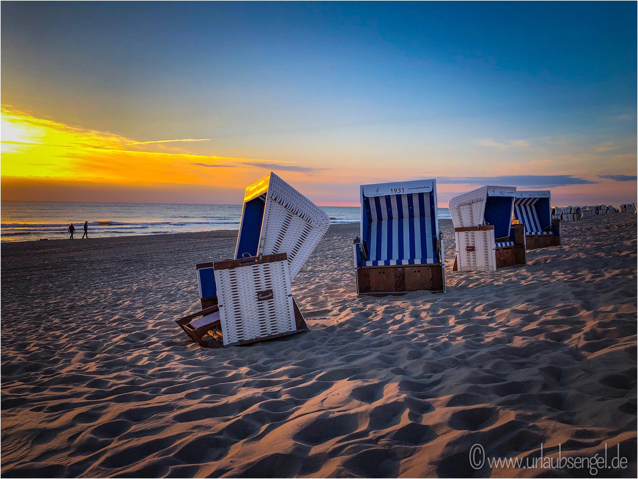 Strandkorb am Strand von Westerland auf Sylt