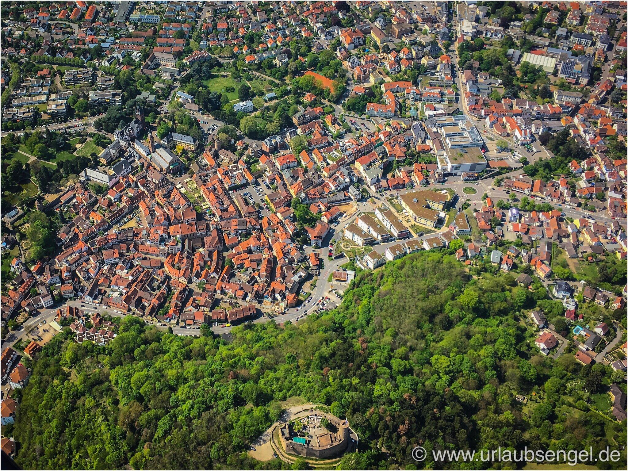 Luftbild Weinheim Windeck aus dem Gyrocopter