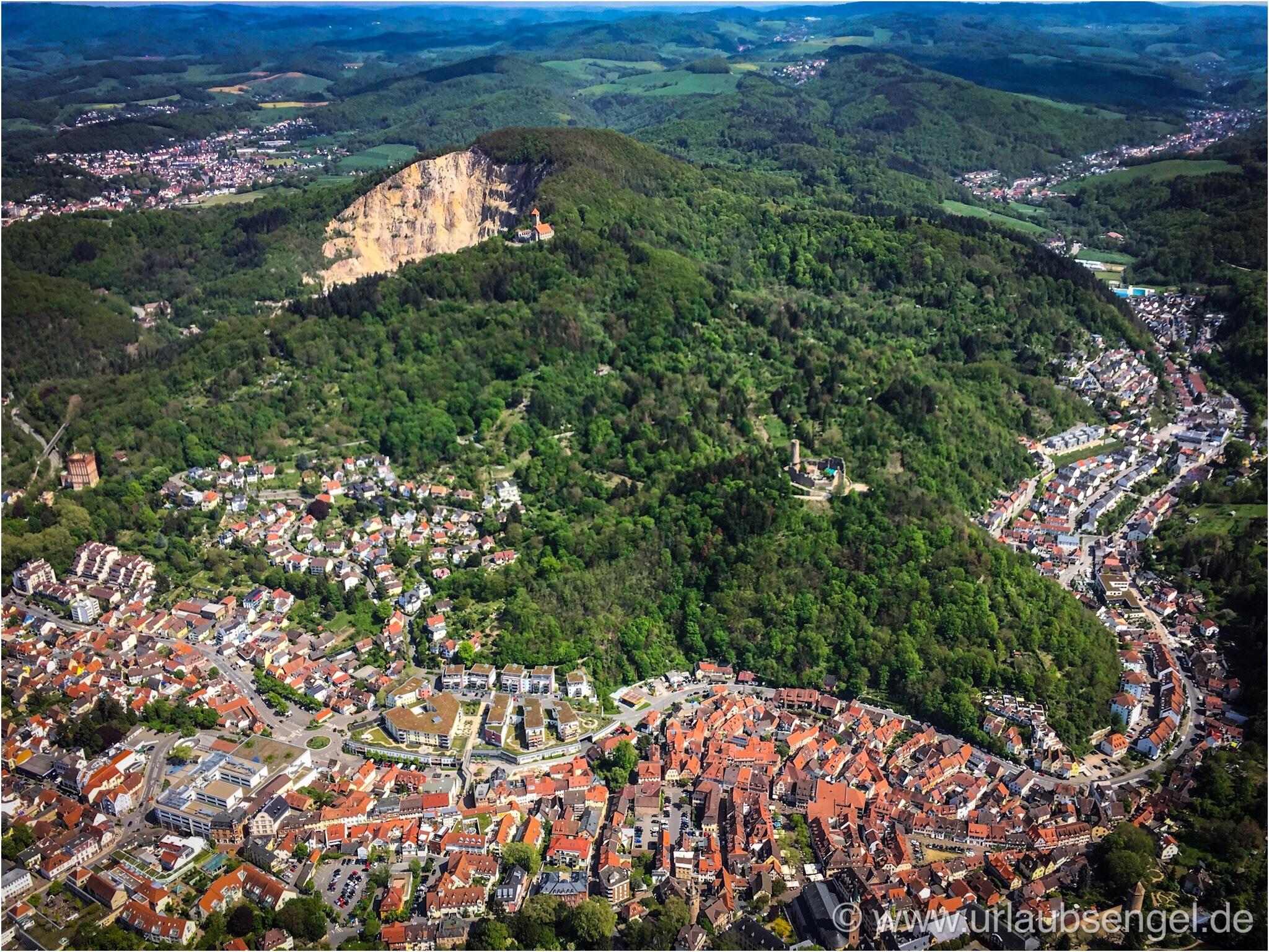Luftbild Weinheim aus dem Gyrocopter