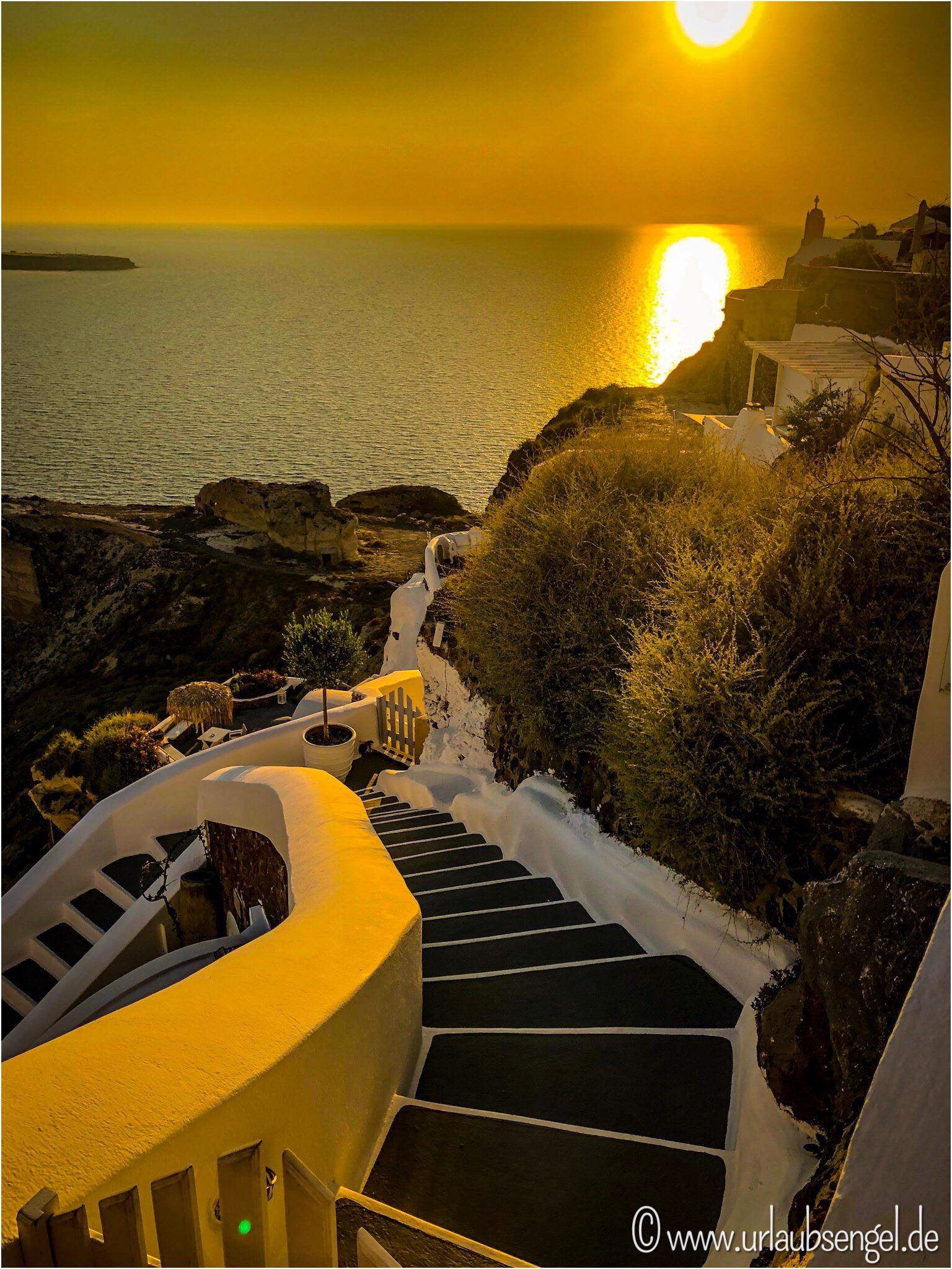 Sonnenuntergang auf Santorini