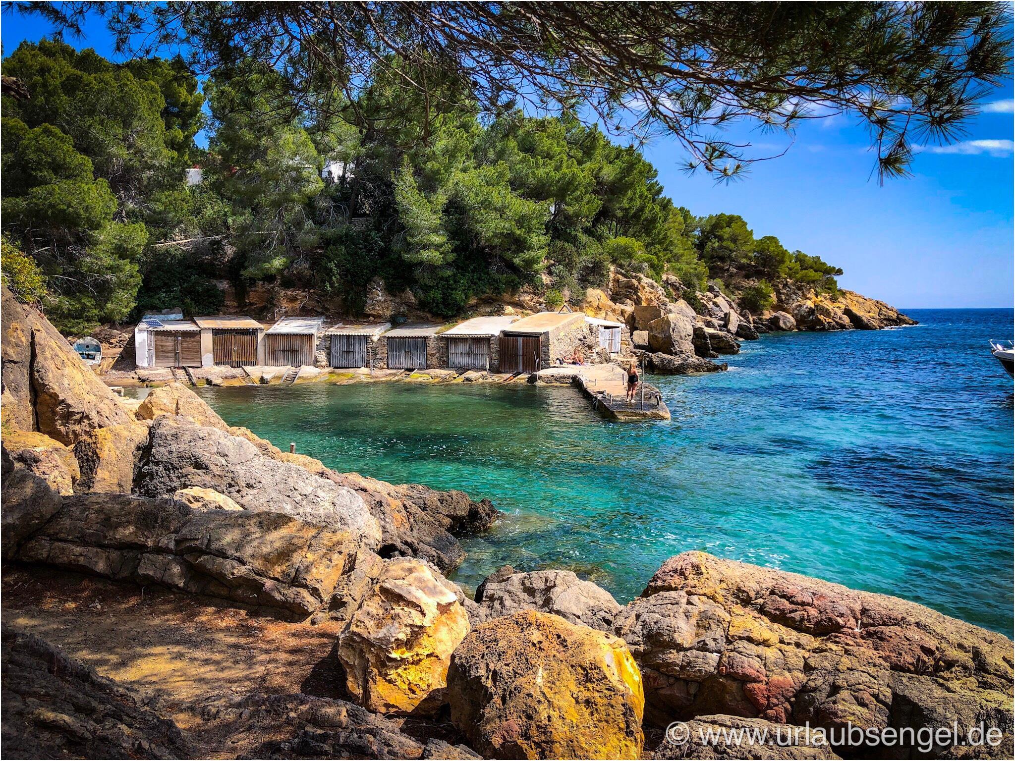 Schöne Bucht auf Ibiza bei El Bigote