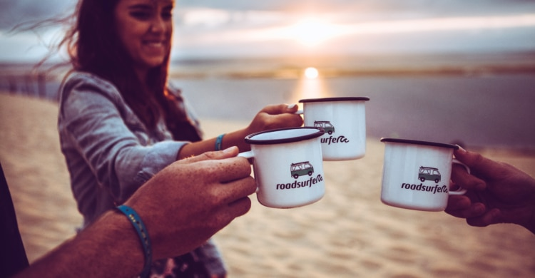Kaffee vorm VW-Campingbus