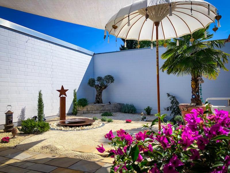 Der Innenhof der Reiseagentur Urlaubsengel - Urlaubsberatung im Innenhof