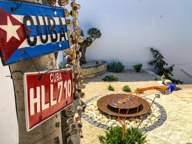 Brunnen im Innenhof der Reiseagentur Urlaubsengel