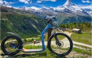 Blick aufs Matterhorn über Zermatt
