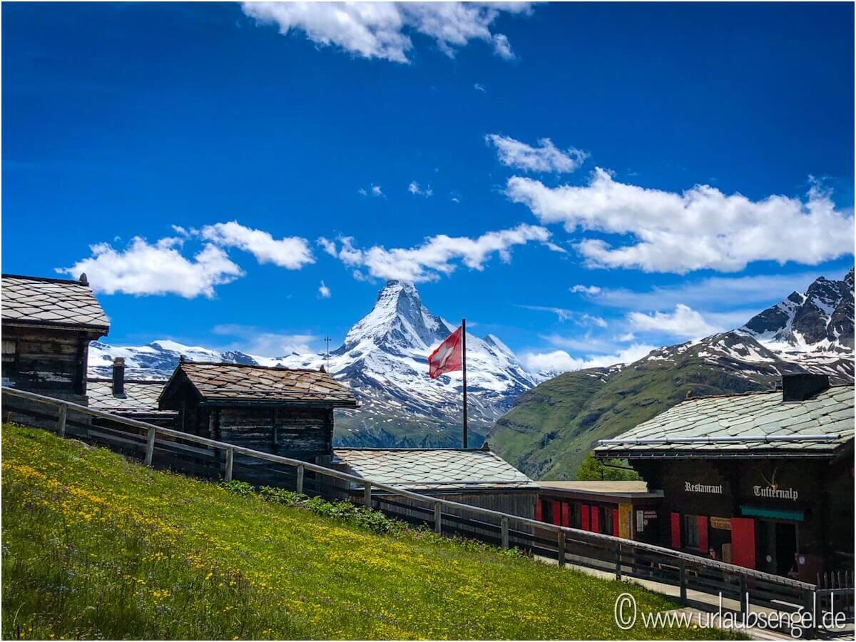 Blick auf das Matterhorn von der Tufternalp