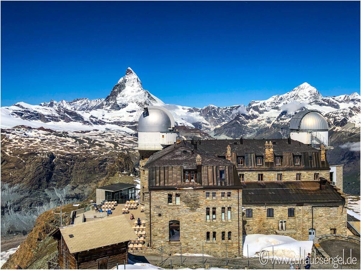 Das Kulm Hotel auf dem Gornergrat - Blick aufs Matterhorn