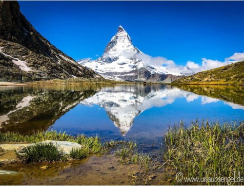 Zermatt und das Matterhorn im Riffelsee