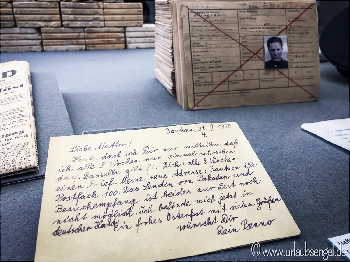 Brief im Stasiknast Bautzen 2