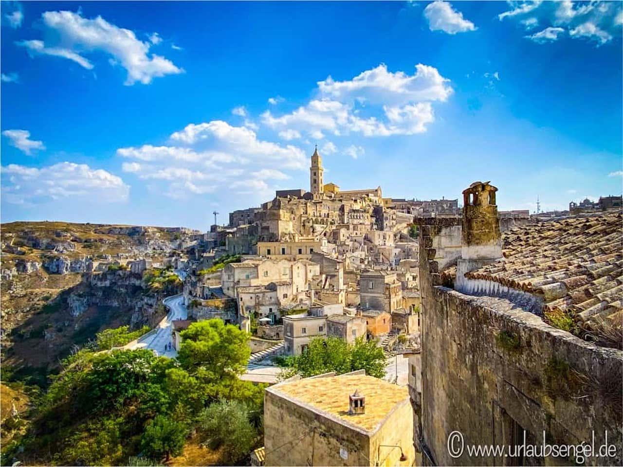 Blick auf die Altstadt Materas