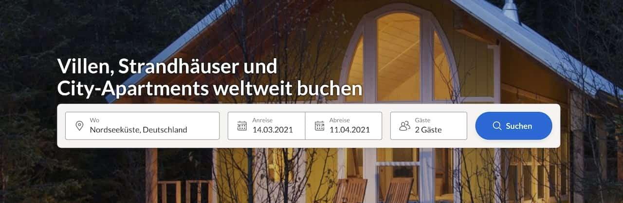 Ferienhaus Ferienwohnung Suchmaschine