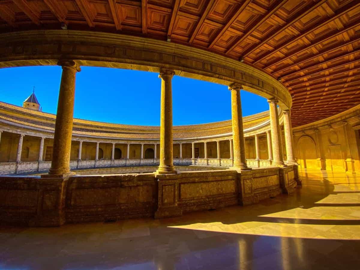 Alhambra   Innenhof des Palastes